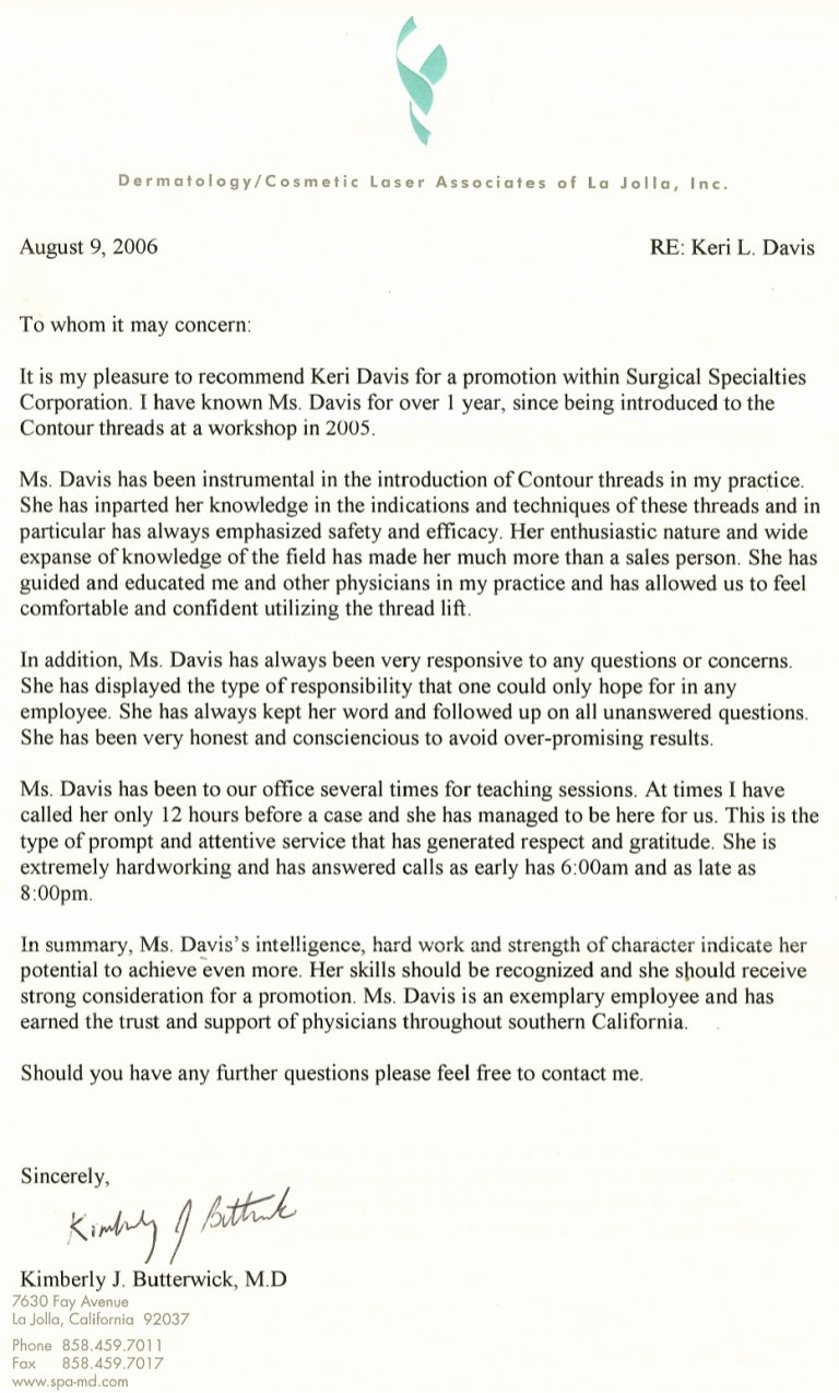 Physician Letter Of Recommendation Examples New Plastic Surgeon Letters Re Mendation