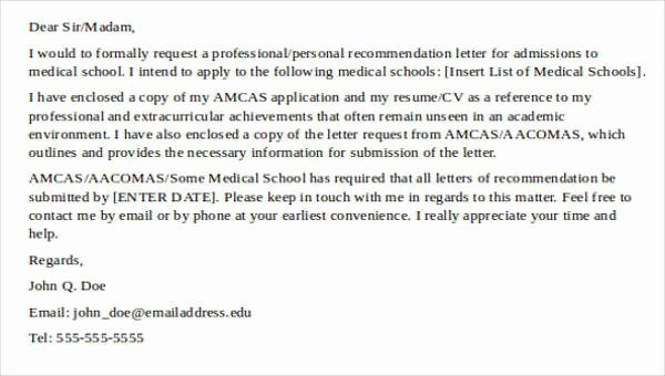 Physician Letter Of Recommendation Examples Unique 8 Medical School Re Mendation Letter – Pdf Word