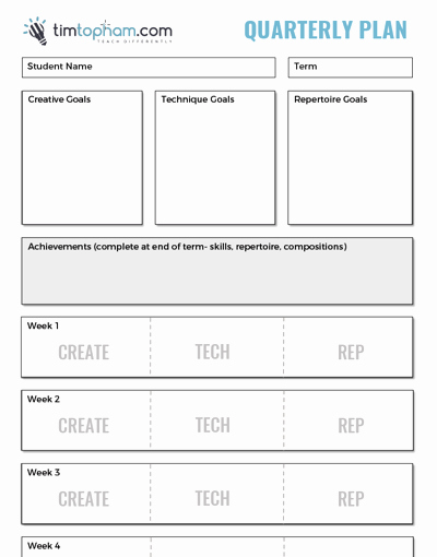 Piano Lesson Plan Template Awesome Quarterly Planning Thumb Creative Music Education