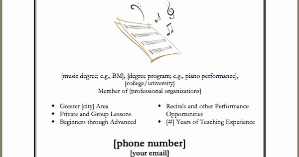 Piano Lesson Plan Template Lovely Template for Advertisement Poster