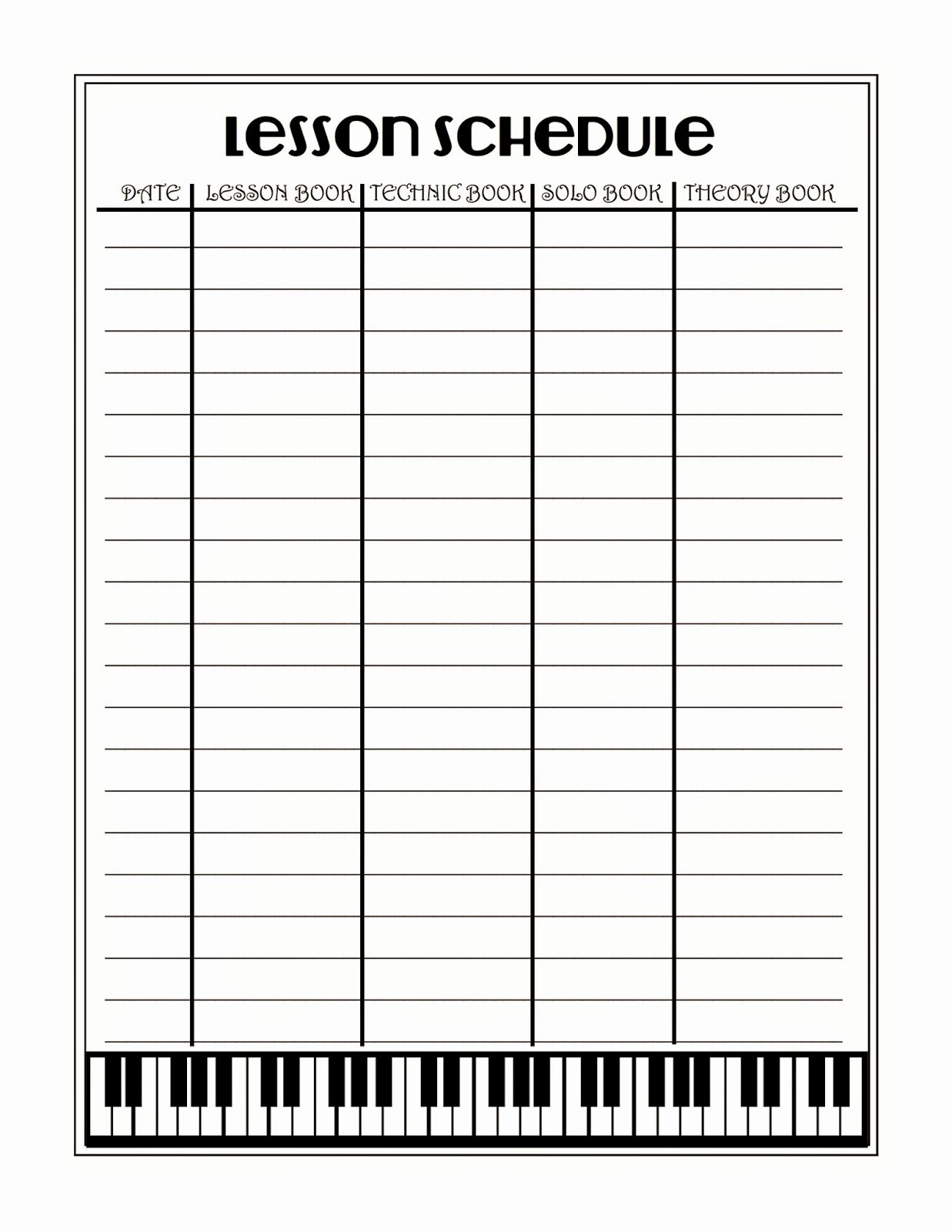 Piano Lesson Plan Template Luxury What 5 Teach Me Piano Lesson Scheduler