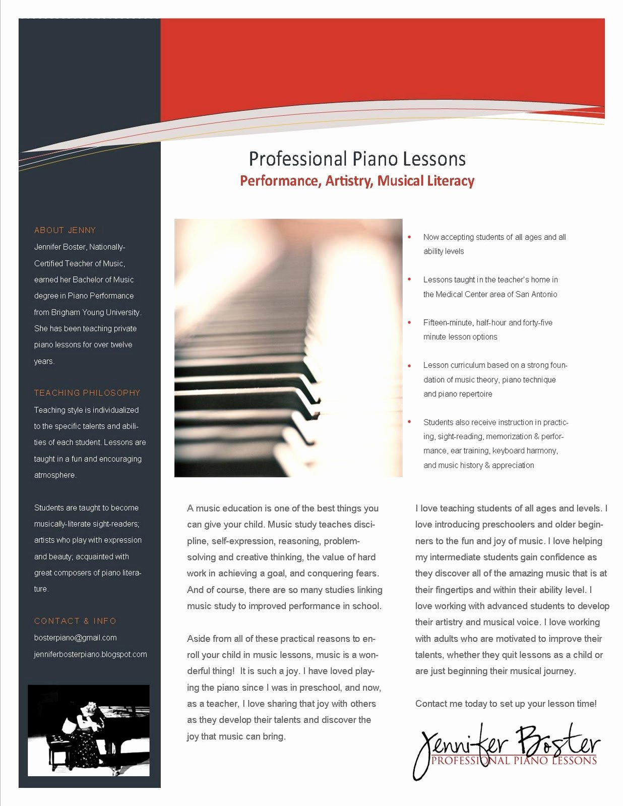 Piano Lesson Plan Template Unique the Teaching Studio Advertising for New Students
