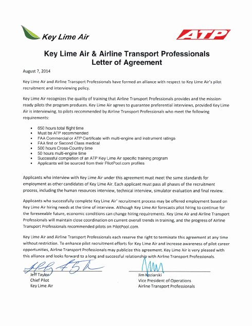 Pilot Letter Of Recommendation Beautiful Airline Pilot Hiring Partnerships atp Flight School