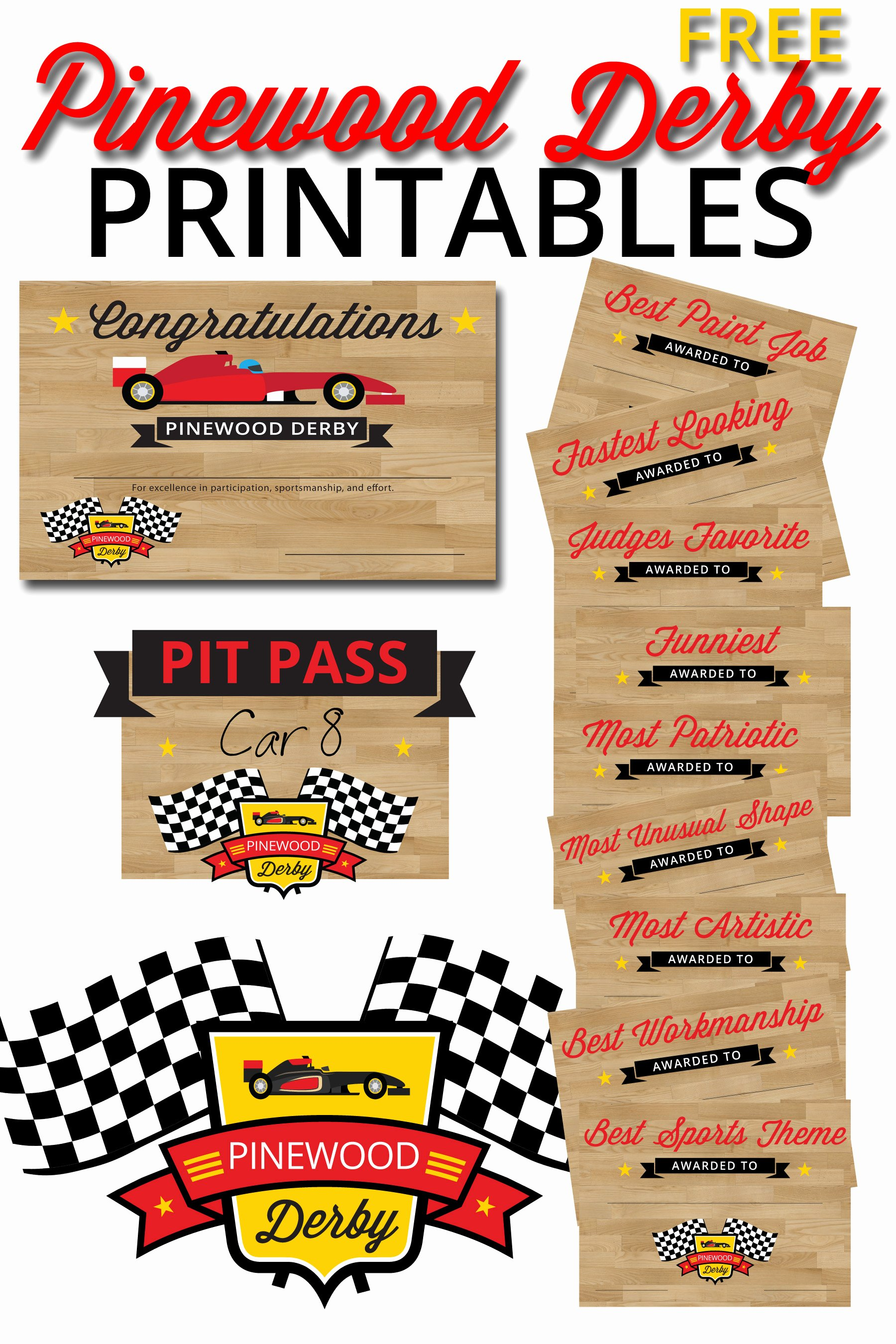 Pinewood Derby Flyer Template Fresh Pinewood Derby Printables – the Gospel Home
