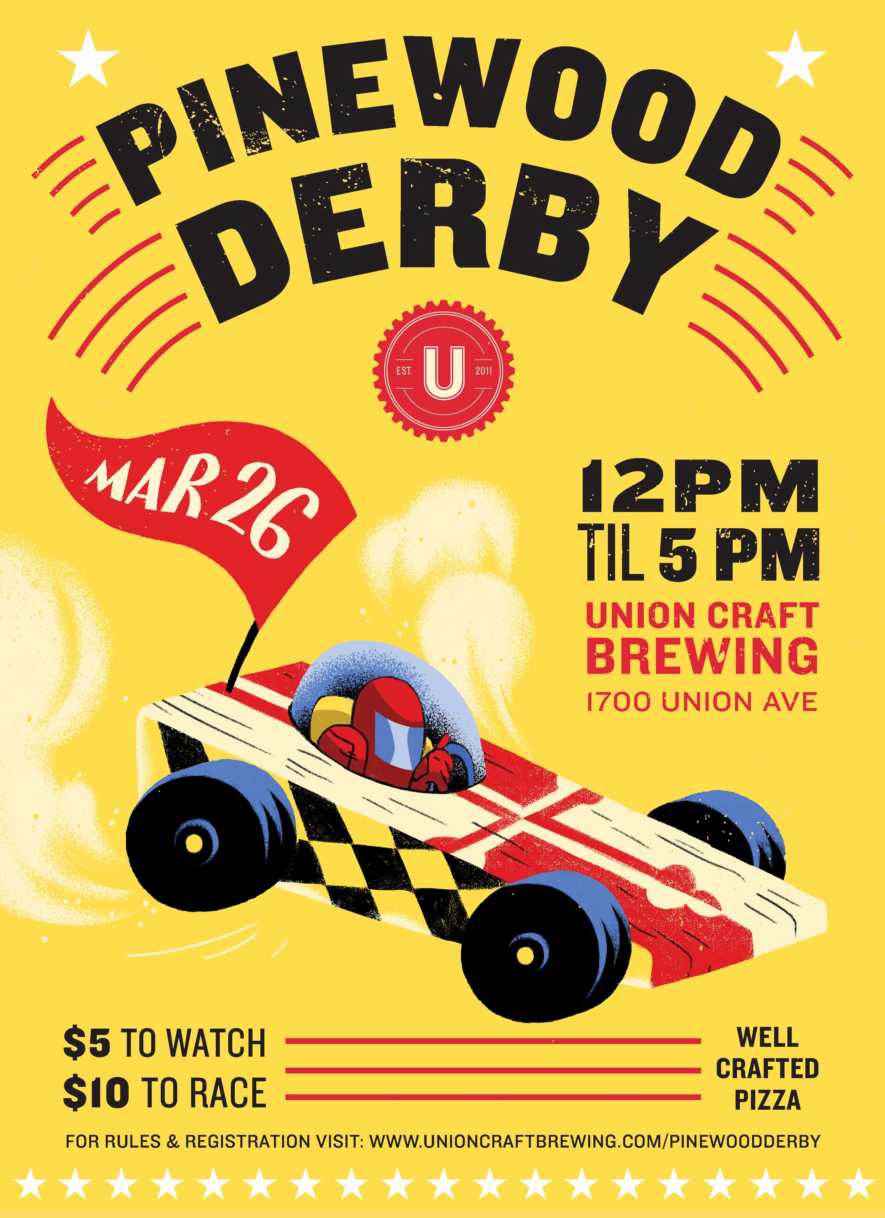 Pinewood Derby Flyer Template Inspirational Union Craft Brewing 2017 Union Pinewood Derby Union