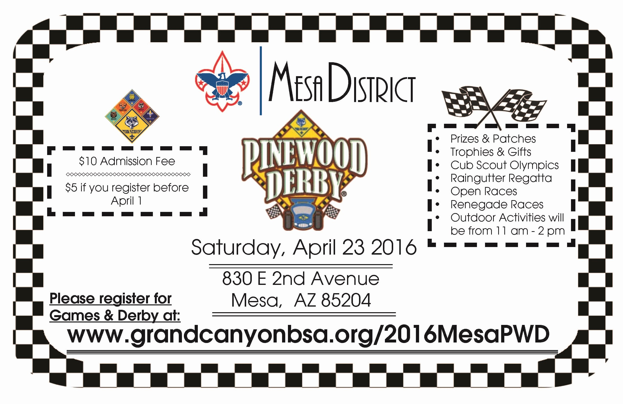 Pinewood Derby Flyer Template Lovely 2016 Mesa District Pinewood Derby