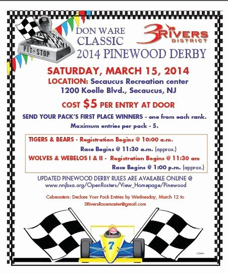 Pinewood Derby Flyer Template Lovely District Pinewood Derby Race Flyers