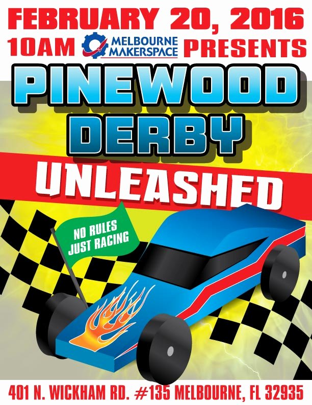 Pinewood Derby Flyer Template Lovely Pinewood Derby Unleashed Race Recap Melbourne Makerspace