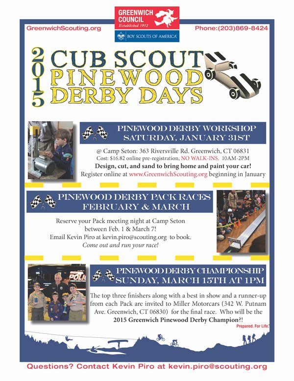 Pinewood Derby Flyer Template New Pinewood Derby — Pack 3 Old Greenwich