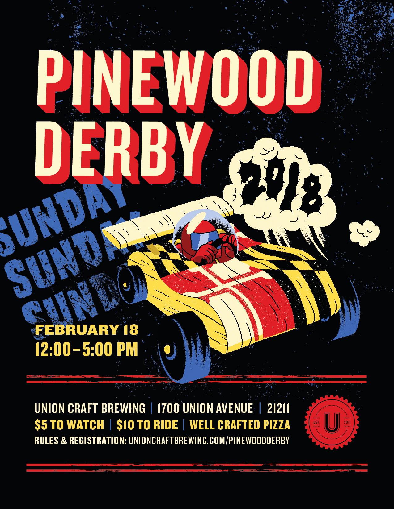 Pinewood Derby Flyer Template Unique Union Craft Brewing 2018 Union Pinewood Derby Union