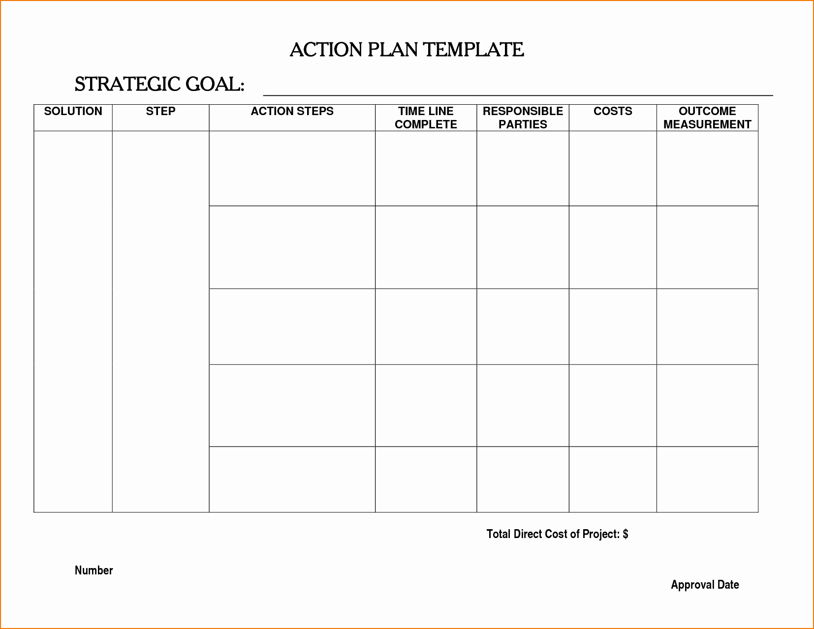 Plan Of Action Template Best Of 6 Action Planning Template
