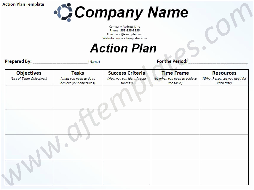 Plan Of Action Template Elegant Free Business Action Plan Template