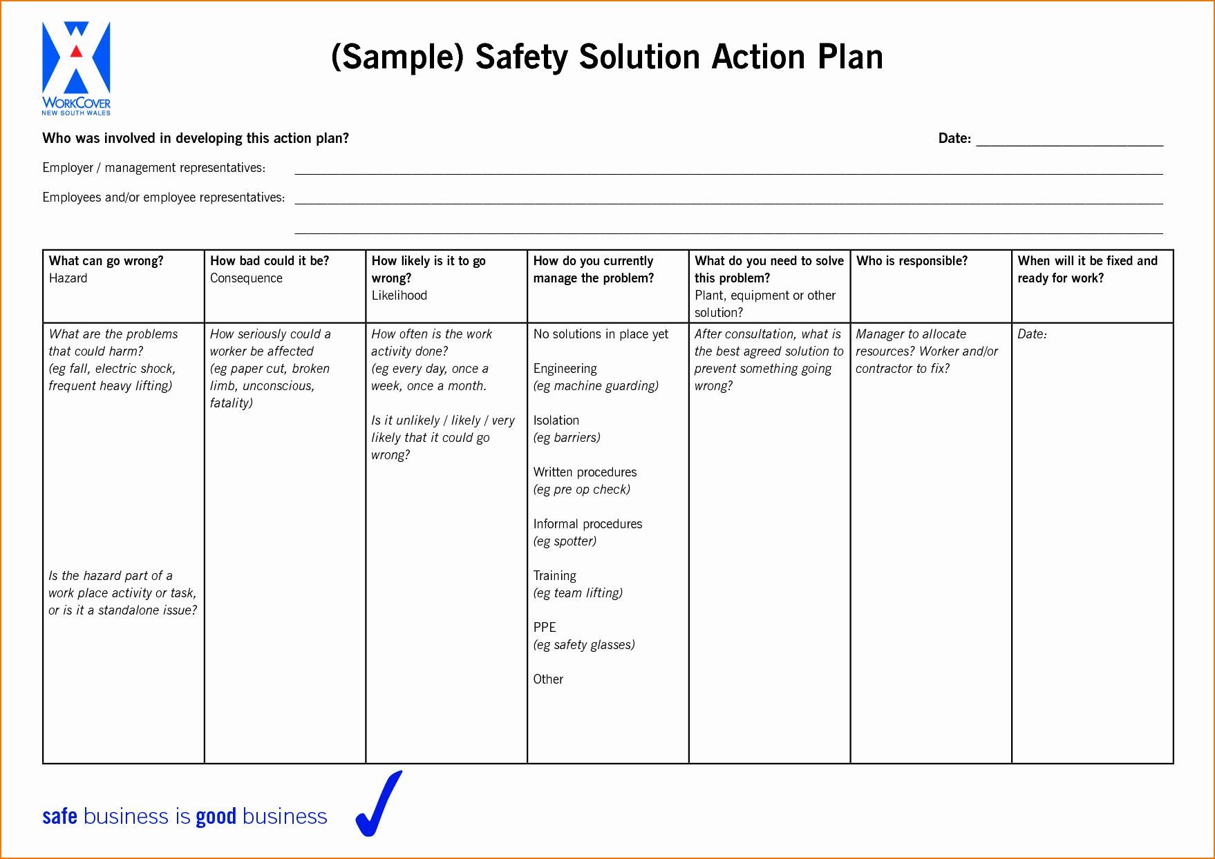 Plan Of Action Template Fresh 6 Sample Action Plan Template