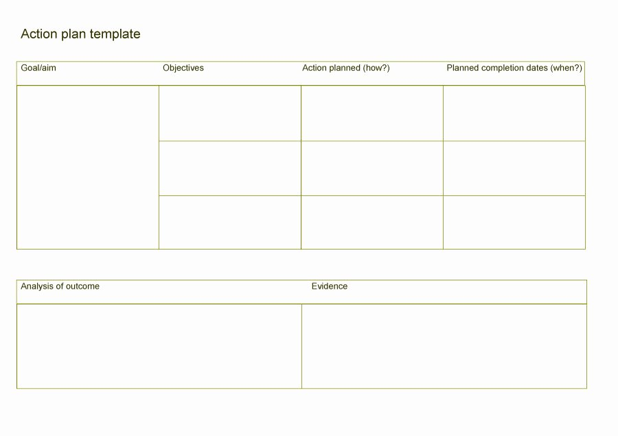 Plan Of Action Template New 45 Free Action Plan Templates Corrective Emergency