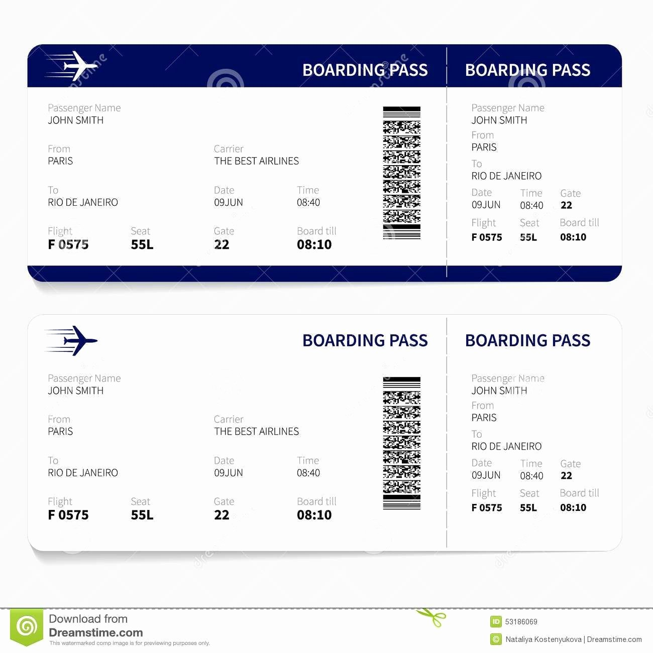 Plane Ticket Template Pdf Beautiful Airline Ticket Template Free Sample Customer Service