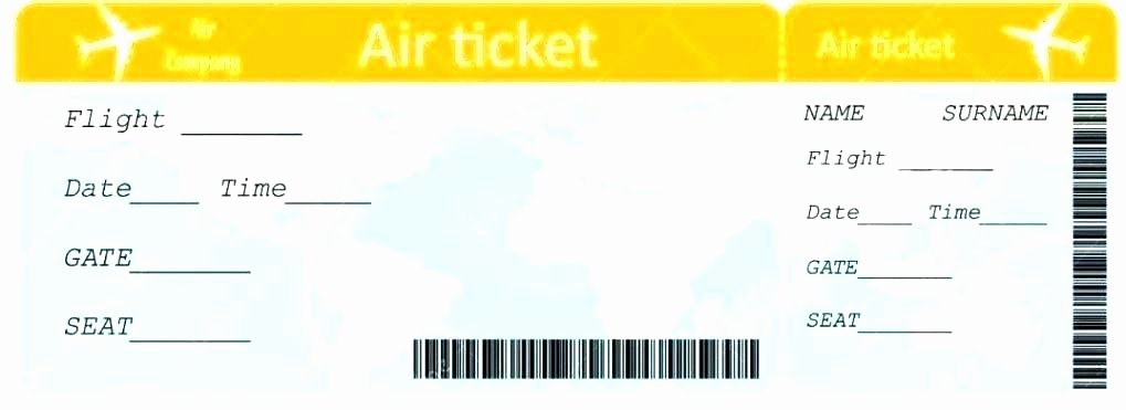Plane Ticket Template Pdf Beautiful Travel Ticket Template Plane Ticket Template Flight Ticket