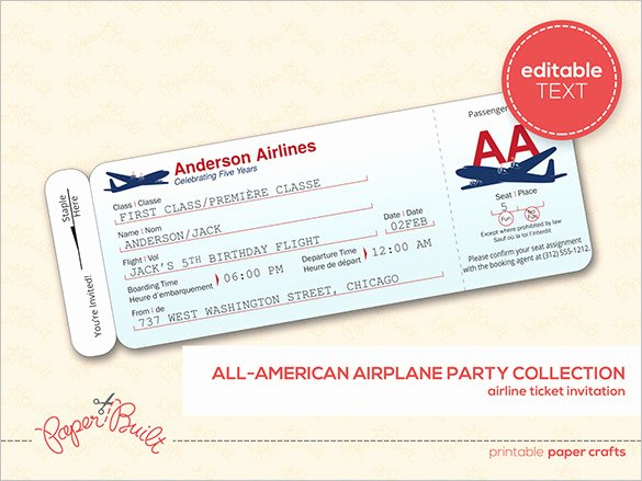Plane Ticket Template Pdf Best Of Ticket Templates – 99 Free Word Excel Pdf Psd Eps