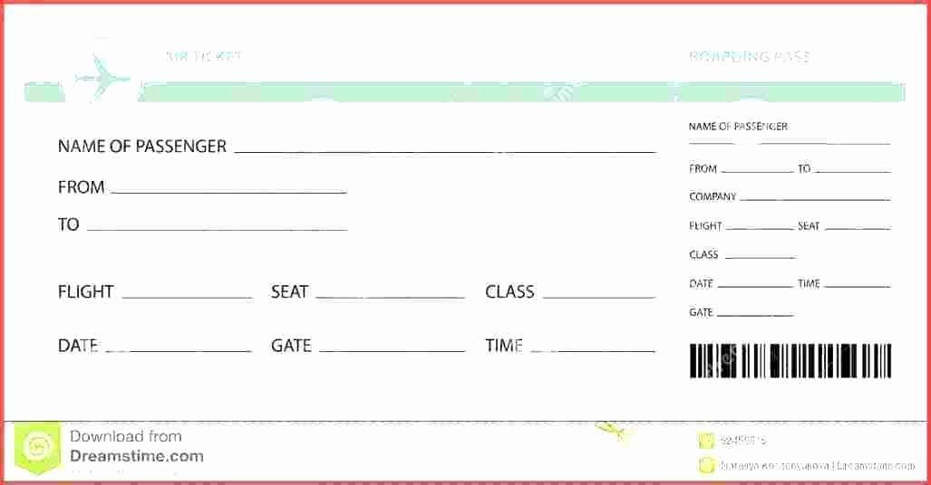 Plane Ticket Template Pdf Best Of Travel Ticket Template Air Ticket Template Vector Image