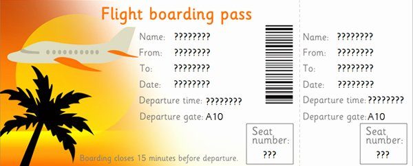 Plane Ticket Template Pdf Elegant 27 Best Airline Boarding Pass Ticket Template Examples