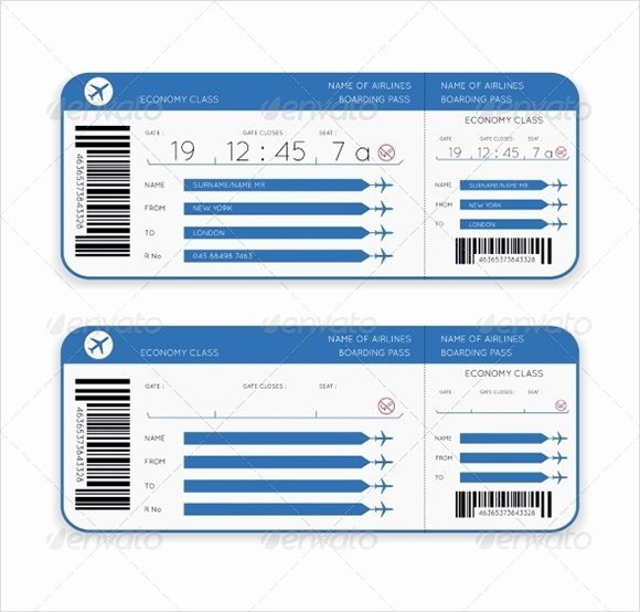 Plane Ticket Template Pdf Elegant Boarding Pass Template 9 Download Documents In Pdf