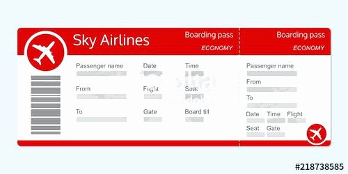 Plane Ticket Template Pdf Fresh Flight Ticket Template Mock Airline Ticket Template