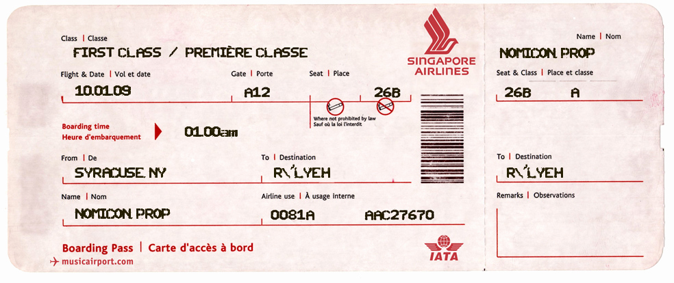 Plane Ticket Template Pdf Fresh Propnomicon Prop Airline Tickets