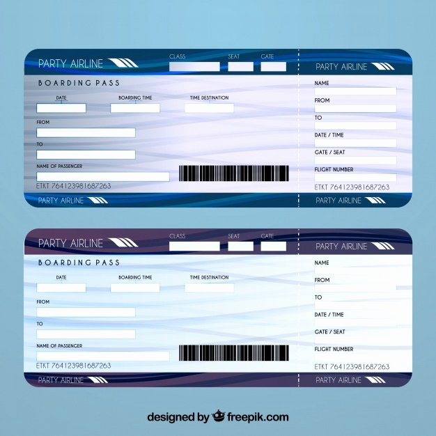 Plane Ticket Template Pdf Luxury Airline Ticket Template Vector