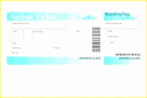 Plane Ticket Template Pdf New Airline Ticket Template Flight Gift Air Sample Pdf Flyaway
