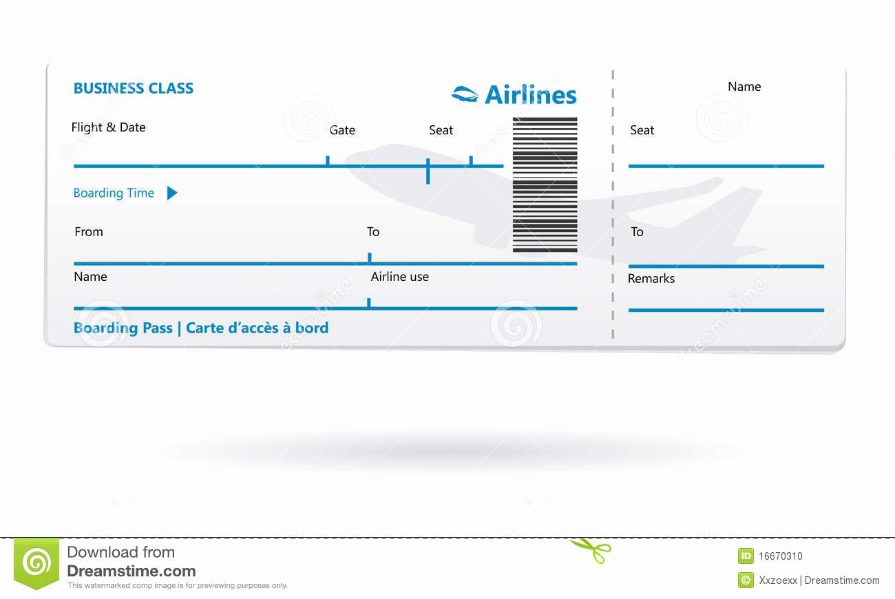 Plane Ticket Template Pdf New Fluglinieneinstiegdurchlaufleerzeichen Vektor Abbildung