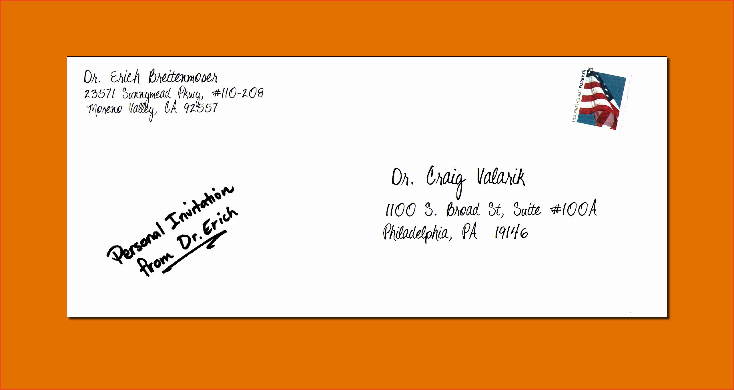 Po Box Letter format Lovely Letter Envelope format