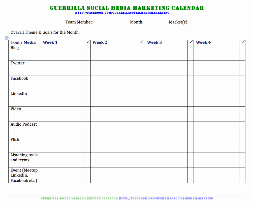 Podcast Business Plan Template Fresh social Media Calendar Sample Template