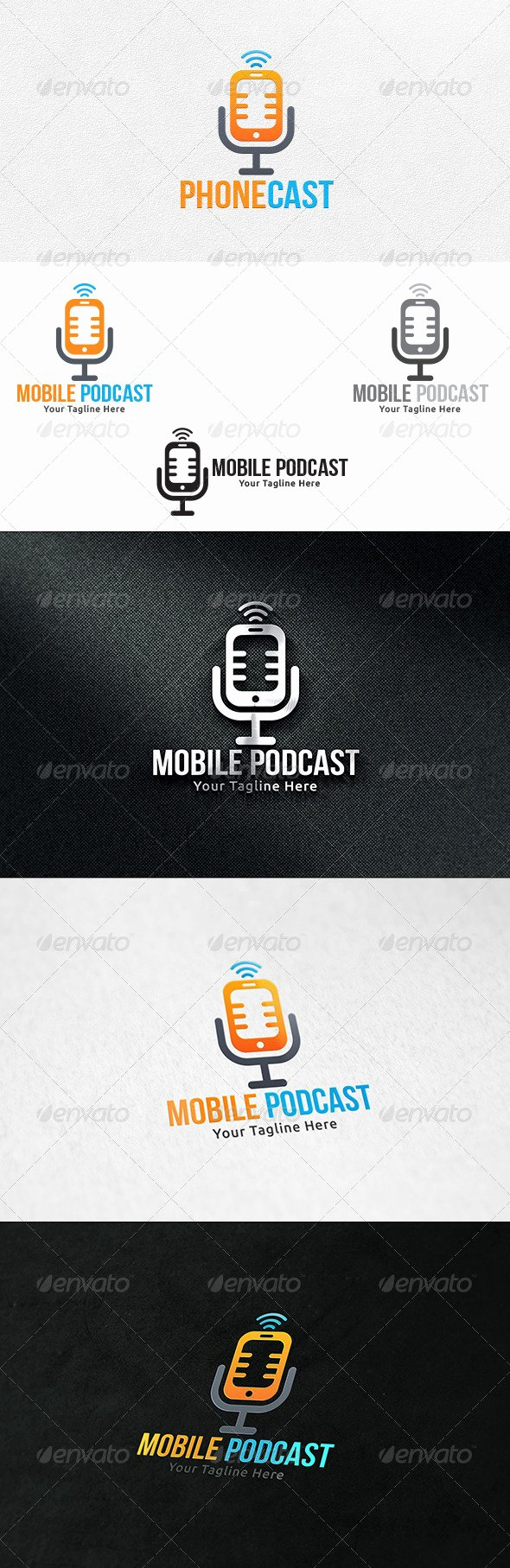 Podcast Business Plan Template Luxury Mobile Podcast Logo Template Logos