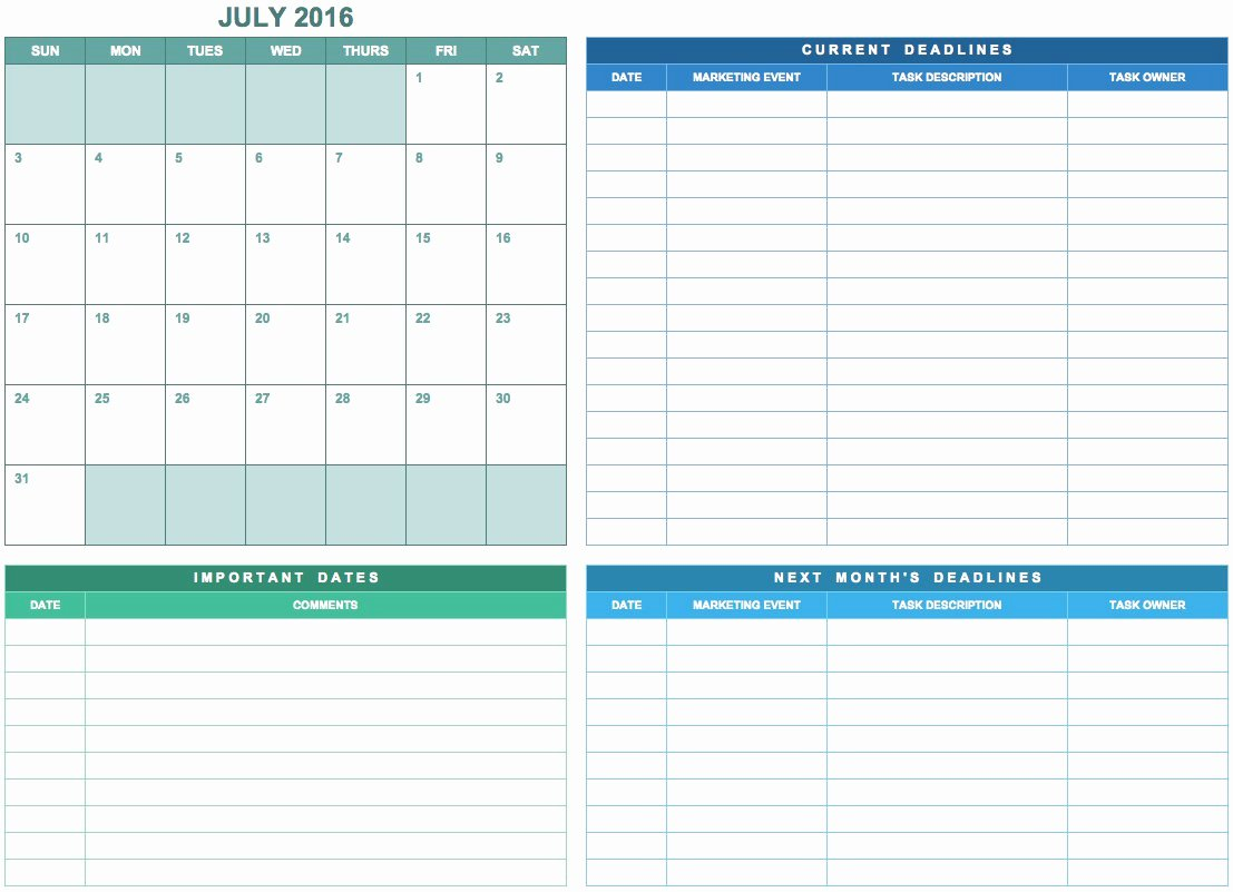 Podcast Business Plan Template Unique 9 Free Marketing Calendar Templates for Excel Smartsheet