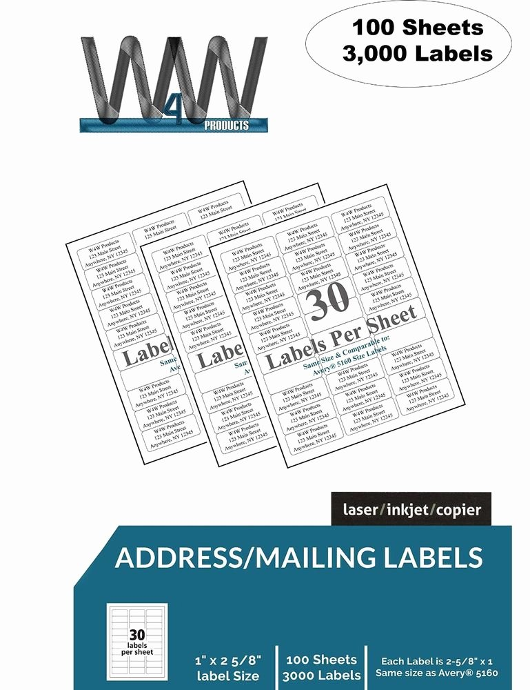 Polaroid Mailing Label Templates Unique W4w 30 Up Name and Address Mailing Labels Sheets