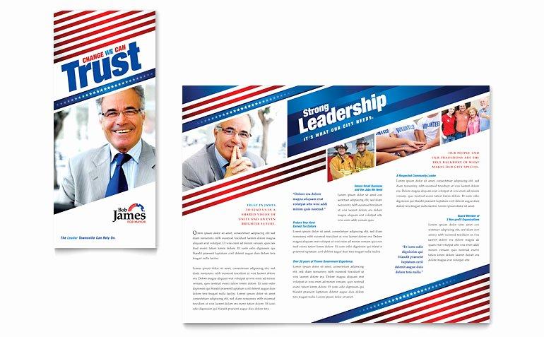 Political Campaign Plan Template Elegant Political Campaign Tri Fold Brochure Template Word