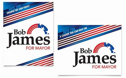 Political Campaign Plan Template Fresh Political Campaign Business Card & Letterhead Template