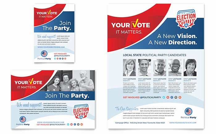 Political Campaign Plan Template Pdf Best Of Election Flyer & Ad Template Design