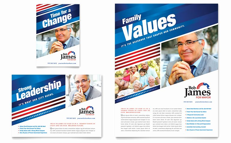 Political Campaign Plan Template Pdf New Political Campaign Flyer & Ad Template Word & Publisher
