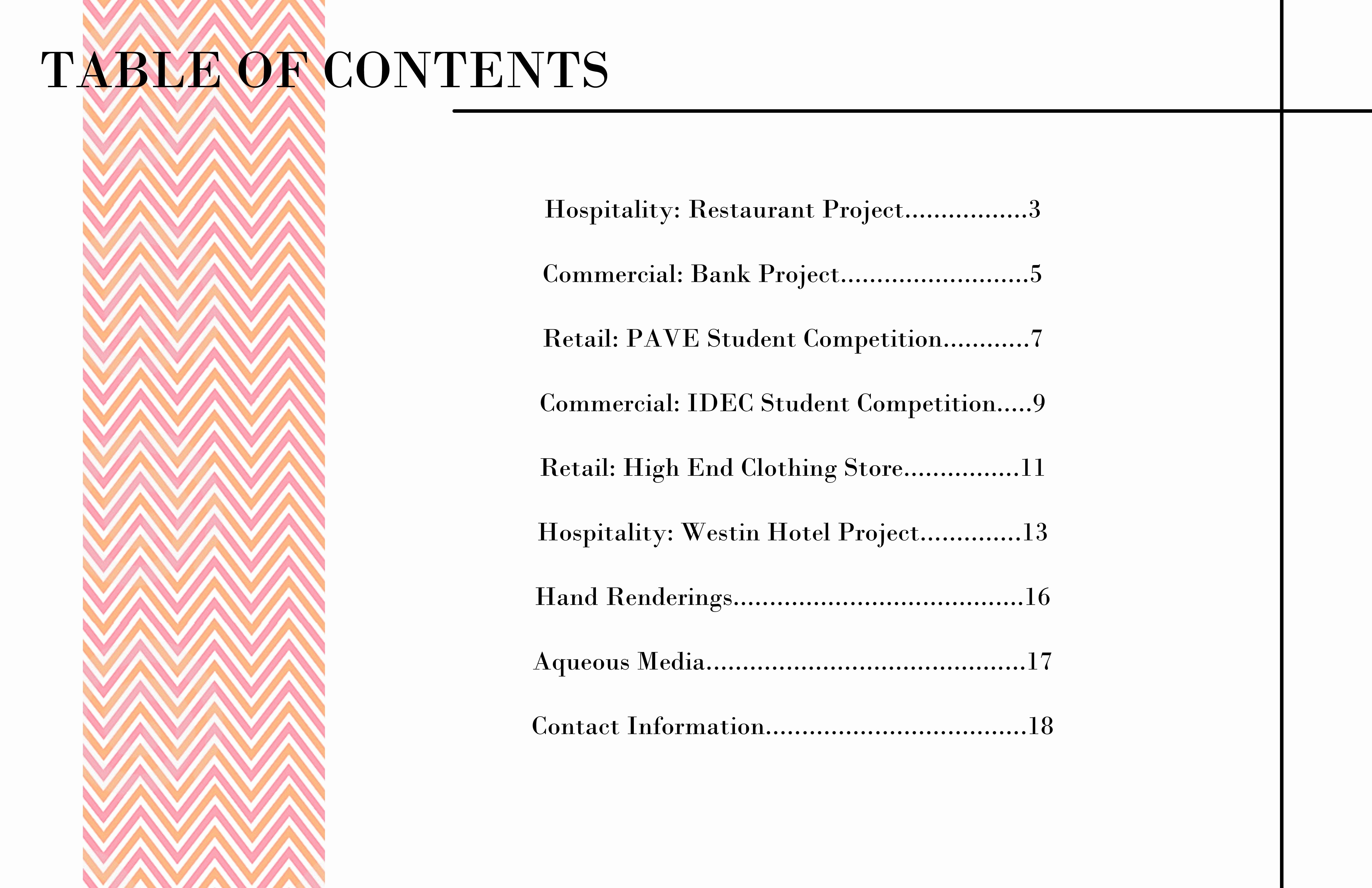 Portfolio Table Of Contents Template Beautiful Portfolio Table Content Sample Inspirationa 15 Awesome