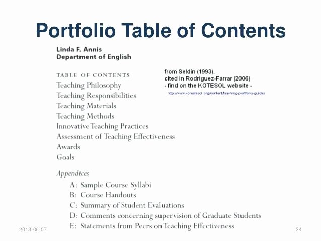 Portfolio Table Of Contents Template Beautiful Teaching Portfolio Table Contents Template – Argose