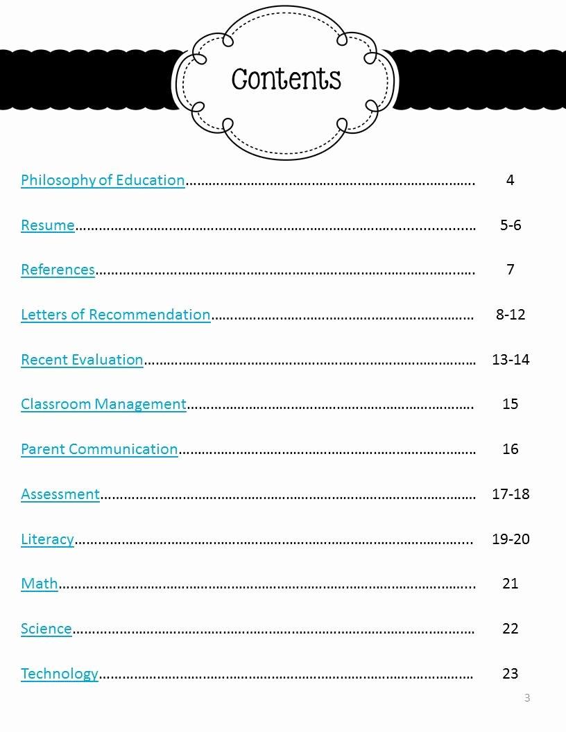 Portfolio Table Of Contents Template Elegant My Job Hunt Journey Part Two the Mini Portfolio