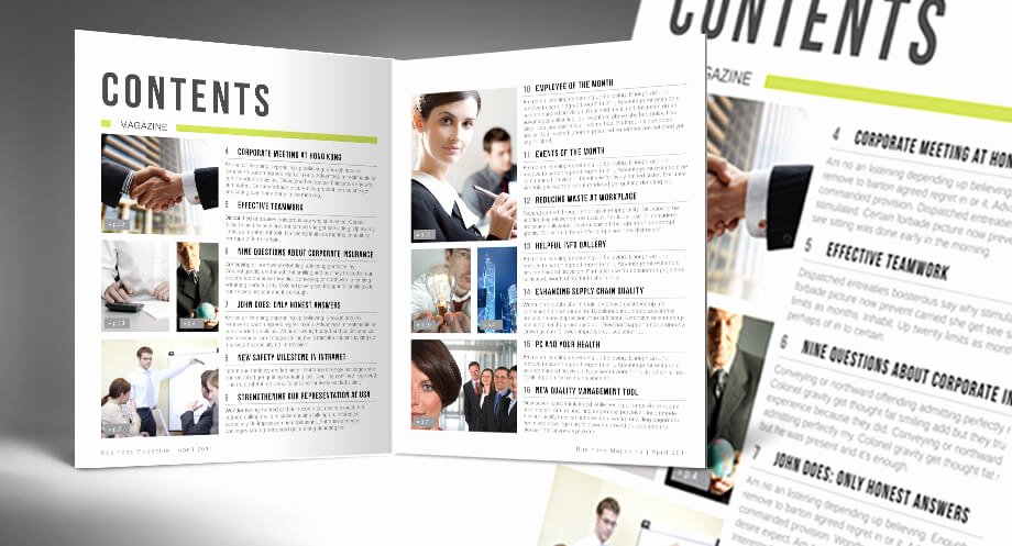 Portfolio Table Of Contents Template Inspirational Table Of Contents Indesign Template for Your Brochure or