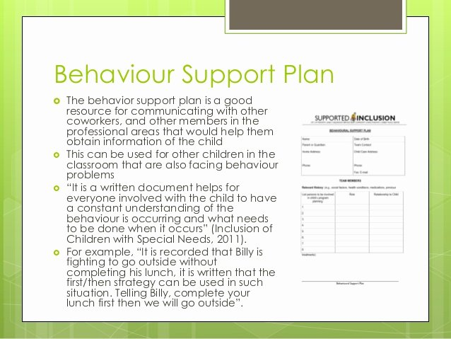 Positive Behavior Support Plan Template Beautiful Meeting the Needs Of Children with Special Needs