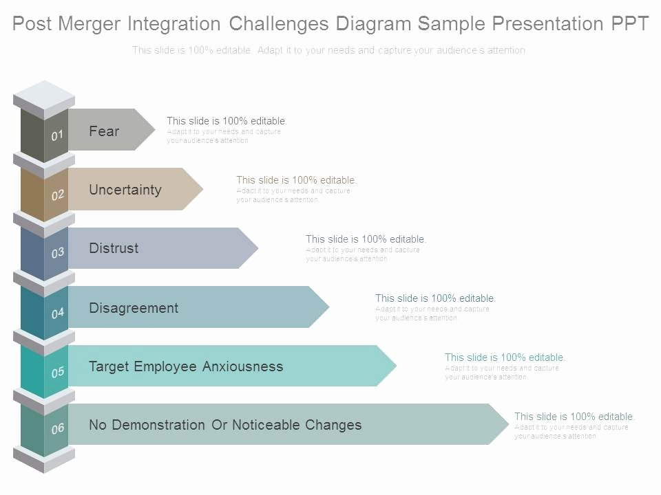 Post Merger Integration Plan Template Awesome Post Merger Integration Challenges Diagram Sample