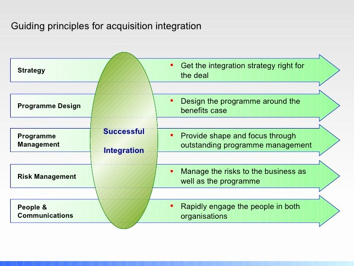 Post Merger Integration Plan Template Awesome Post Merger Integration Principles