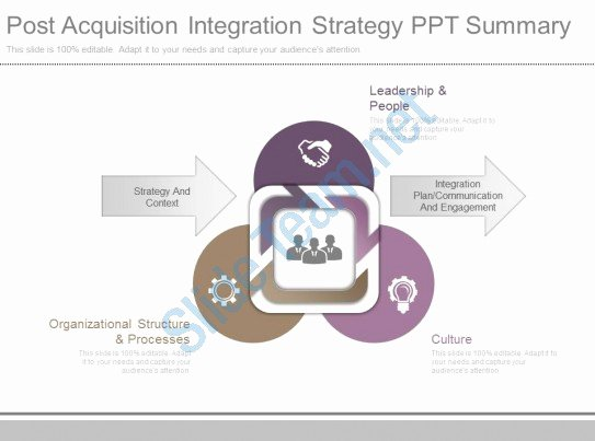 Post Merger Integration Plan Template Unique E Post Acquisition Integration Strategy Ppt Summary