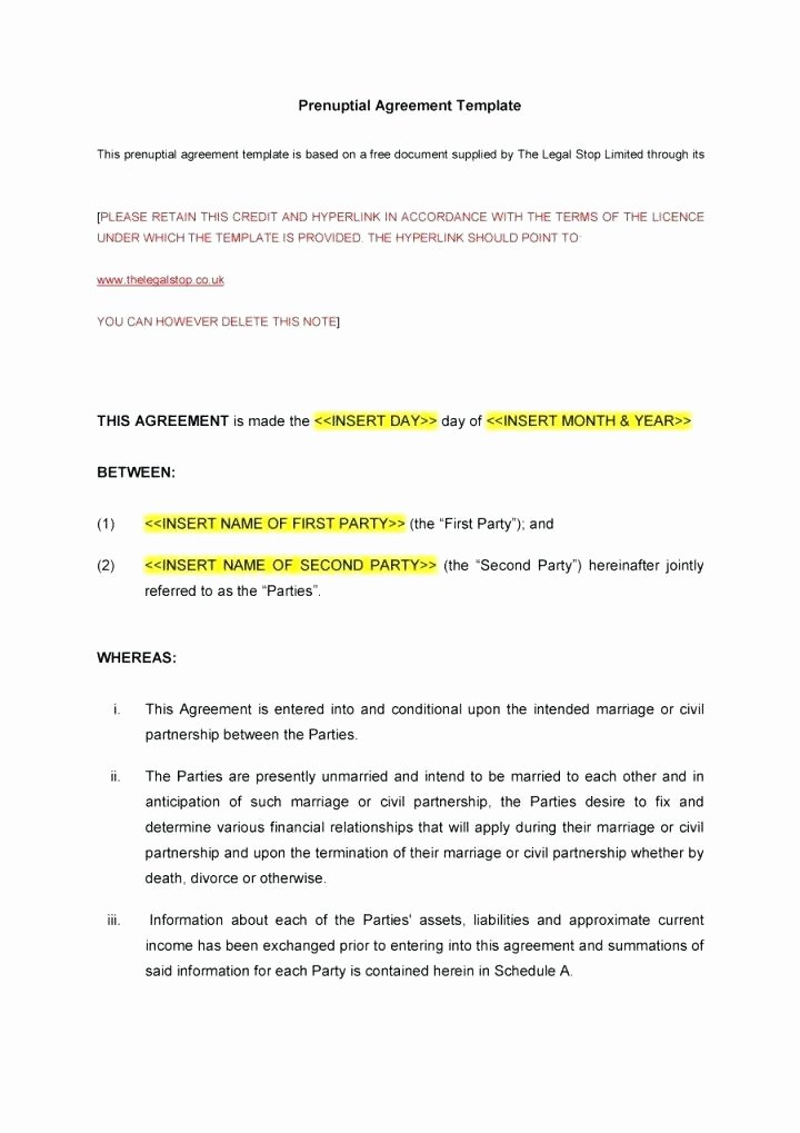 Postnuptial Agreement Florida Sample Awesome Prenup Agreement Template Amazing Benefits Prenuptial
