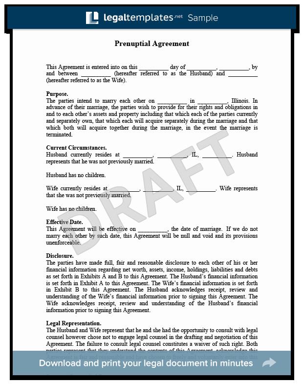 Postnuptial Agreement Florida Sample Beautiful Prenuptial Agreement Create A Free Prenup
