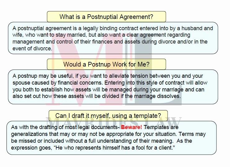 Postnuptial Agreement Florida Sample Fresh Postnuptial Agreement