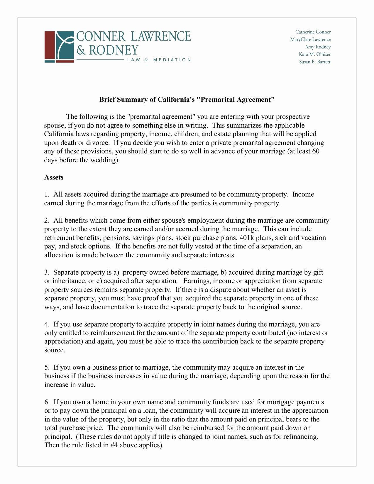 Postnuptial Agreement Florida Sample Unique 40 Quick Sample Prenuptial Agreement California Ce